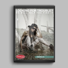 """""""Looking for Trouble?"""" Poster"""