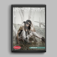 """Looking for Trouble?"" Poster"